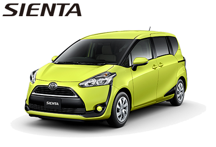 SIENTA from July 2015 ( Some shops might arrange 6 seater)