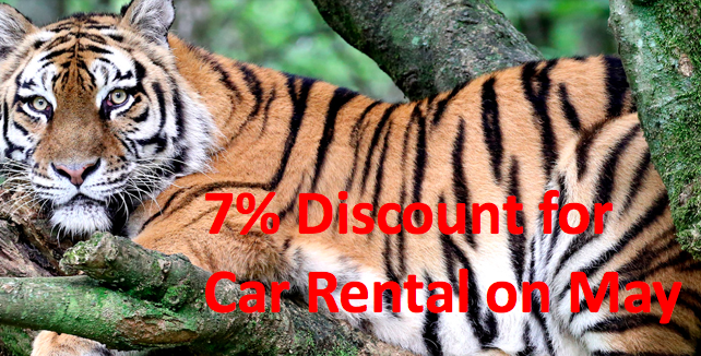 7% Discount for Car Rental on May